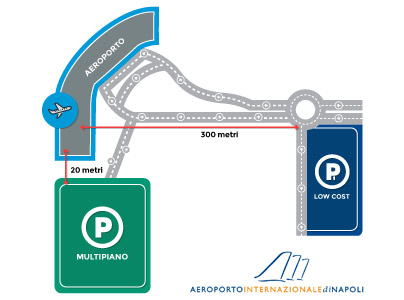 mappa dei parcheggi low coast dell'aeroporto di napoli